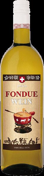 Cave de la Côte Fondue Wein Chasselas Weißwein trocken 0,75 l