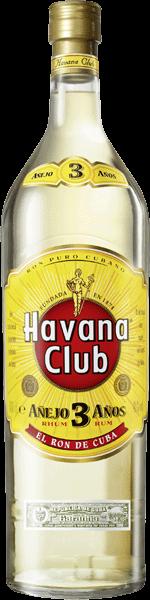 Havana Club 3 Years 40% vol. 3,0 l