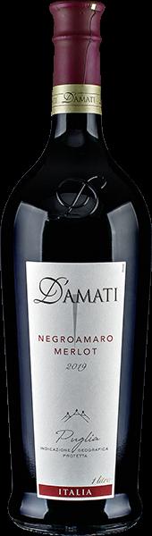 D'Amati Negroamaro Merlot Rotwein halbtrocken 1 l