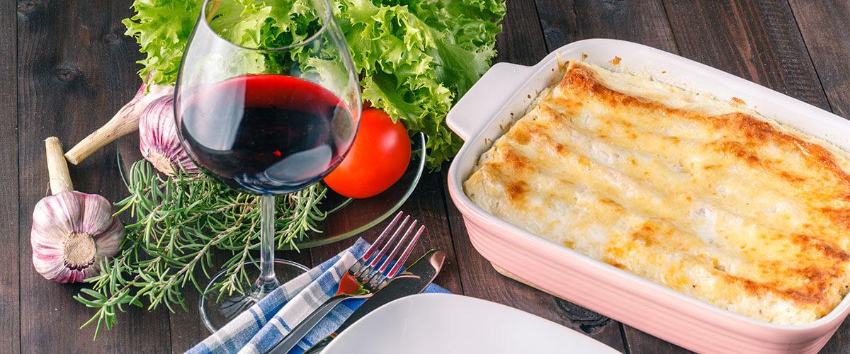 Lasagne Wein