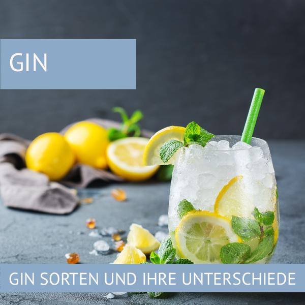Gin Sorten Unterschiede
